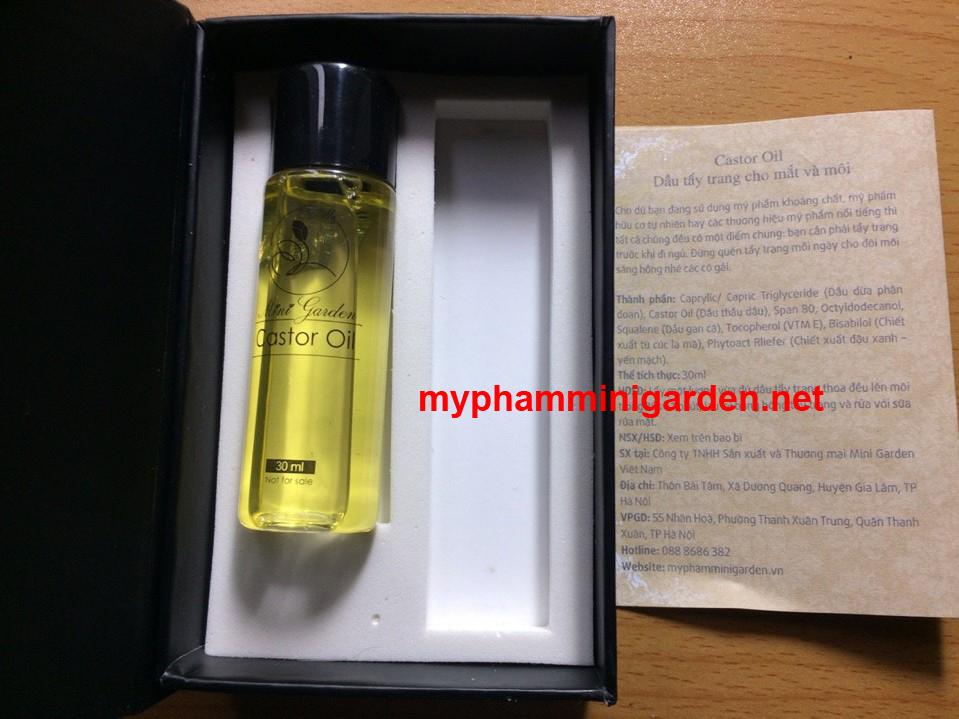 Castor Oil Mini Garden - Dầu tẩy trang cho mắt và môi