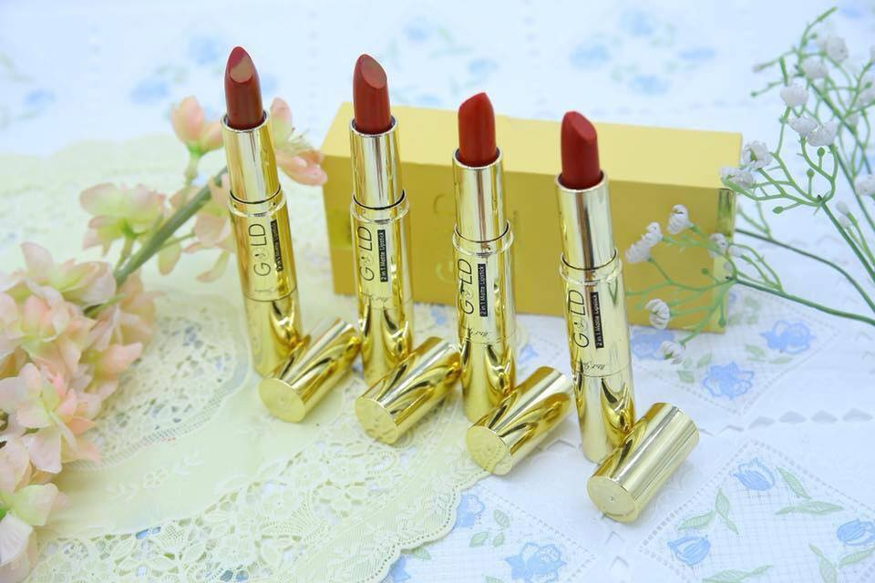 Son Nhung Lì Gold matte lipstick 2 in 1 - Mini Garden