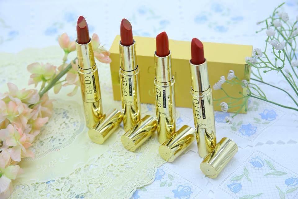 Son Nhung Lì Gold matte lipstick 2 in 1 - Mini Garden